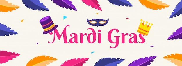 Nagłówek mardi gras