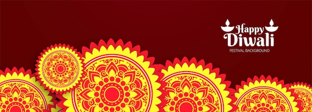 Nagłówek strony lub baner z festiwalem diwali