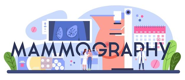 Nagłówek typograficzny mammografii