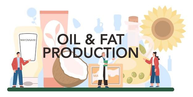Nagłówek typograficzny produkcji oleju.