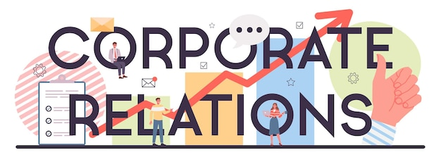 Nagłówek typograficzny relacji korporacyjnych