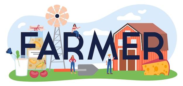 Nagłówek typograficzny rolnika