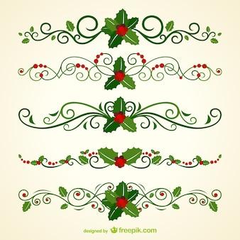 Nagłówki ozdobne świąteczne