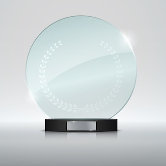 Nagroda circle glass trophy.