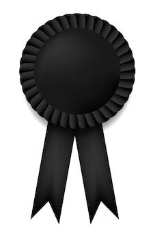 Nagroda czarna wstążka na białym tle.
