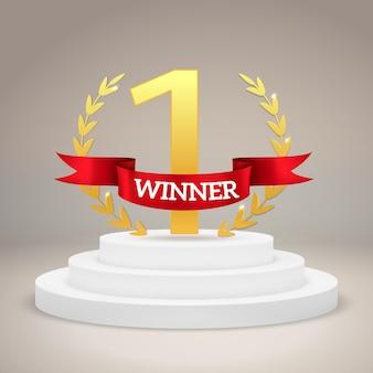 Nagroda dla zwycięzcy na piedestale zwycięstwa
