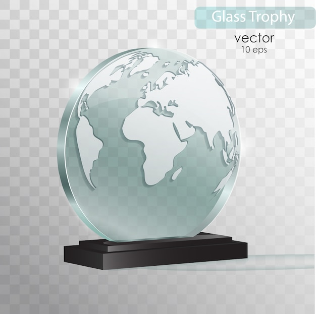 Nagroda glass trophy.