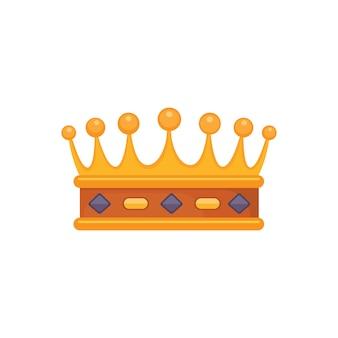 Nagroda ikony korony dla zwycięzców, mistrzów, przywództwa. królewski król, królowa, królewna korona.
