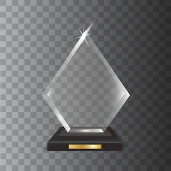 Nagroda przezroczystego realistycznego pustego szkła akrylowego