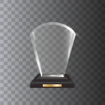 Nagroda za przezroczyste realistyczne puste szkło trofeum