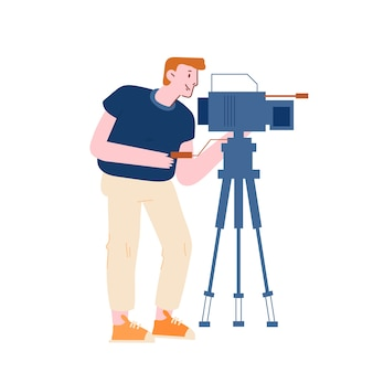 Nagrywanie filmów wideo męskiej postaci