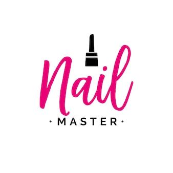 Nail master lettering with polish
