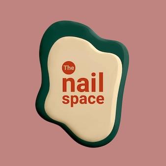 Nail space business logo wektor kreatywny kolor styl malowania