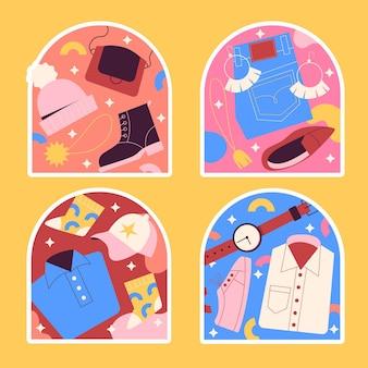 Naiwne naklejki na ubrania i akcesoria