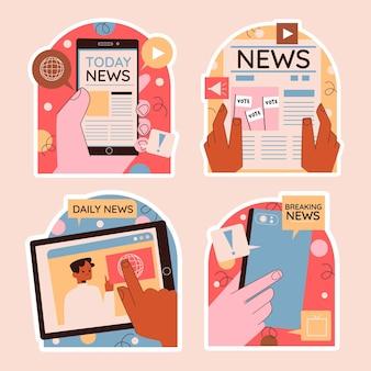 Naiwne naklejki z wiadomościami i polityką