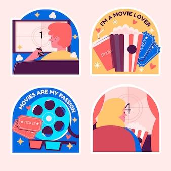 Naiwny zestaw naklejek dla miłośników filmów