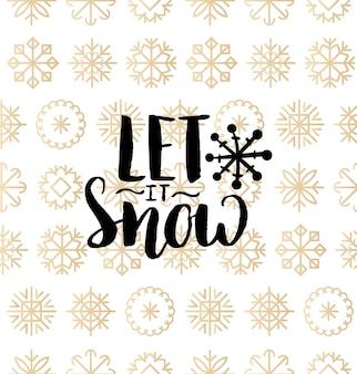 Najcudowniejszy napis w czasie roku na tle śniegu. boże narodzenie lub nowy rok wzór. wesołych świąt typografia dla szablonu karty z pozdrowieniami lub koncepcji plakatu.