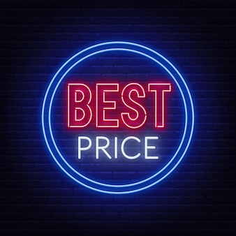 Najlepsza cena neon znak na mur z cegły.