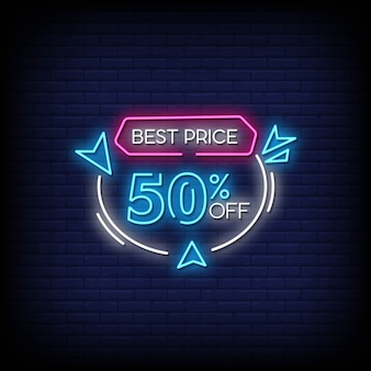 Najlepsza cena tekst w stylu neonów
