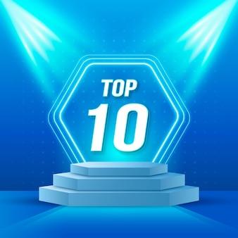 Najlepsza dziesiątka nagród na podium