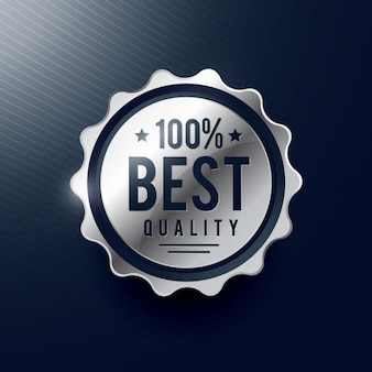 Najlepsza jakość srebrna odznaka projektowania etykiet