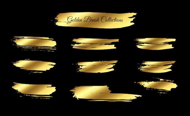Najlepsza kolekcja złoty pociągnięcie pędzla