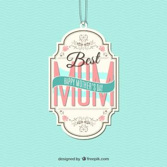 Najlepsza mama etykiety