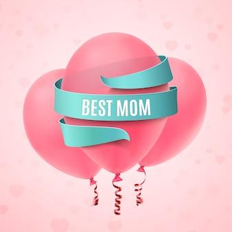 Najlepsza mama. kartkę z życzeniami na dzień matki.