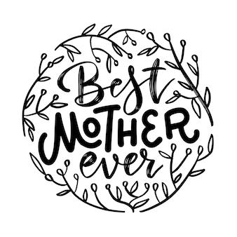 Najlepsza mama kiedykolwiek cytat z gałęziami