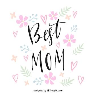 Najlepsza mama kwiatowy tło