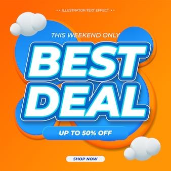 Najlepsza oferta. promocja szablonu banera sprzedaży