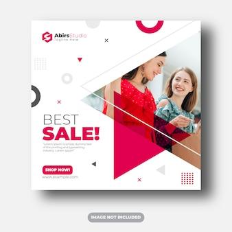 Najlepsza sprzedaż szablon transparent mediów społecznościowych