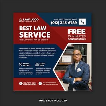 Najlepsza zaufana kancelaria prawnicza szablon banera i posta na instagram