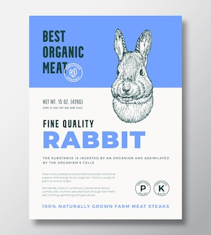 Najlepsze ekologiczne mięso streszczenie wektor wzór opakowania lub szablon etykiety steki z farmy...
