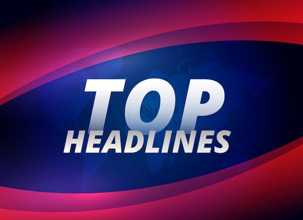 Najlepsze nagłówki wiadomości tematyczne tło