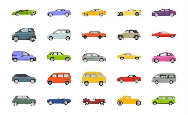 Najlepsze samochody płaskie ikony