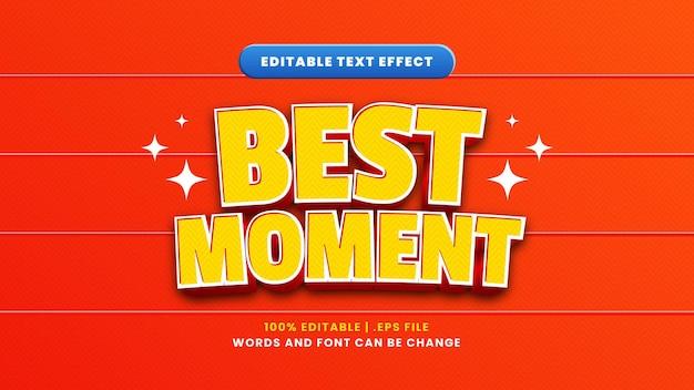 Najlepszy efekt edytowalnego tekstu w nowoczesnym stylu 3d