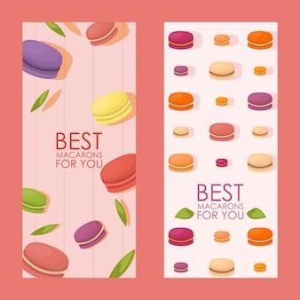 Najlepszy pionowy baner macarons