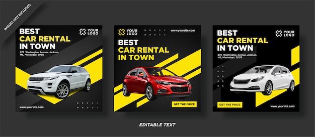 Najlepszy post promocyjny na instagramie wypożyczalni samochodów