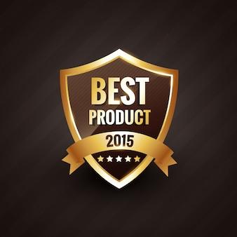 Najlepszy produkt elementu odznaki złotej etykiety