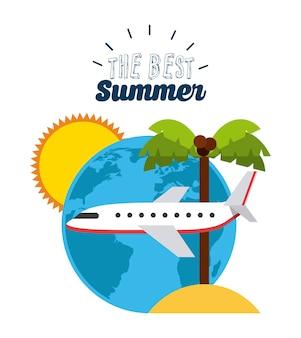 Najlepszy projekt lato, grafika wektorowa ilustracja eps10