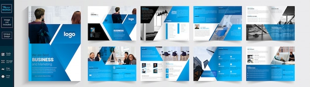Najlepszy projekt szablonu broszury biznesowej i marketingowej. broszura.