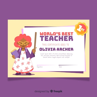 Najlepszy szablon dyplomu nauczyciela na świecie