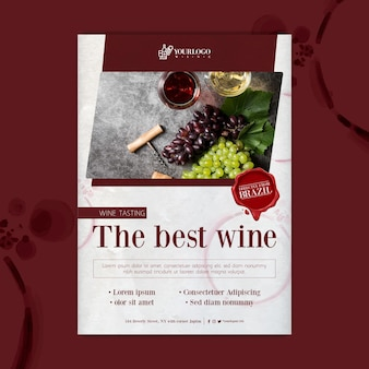 Najlepszy szablon plakatu z degustacją wina
