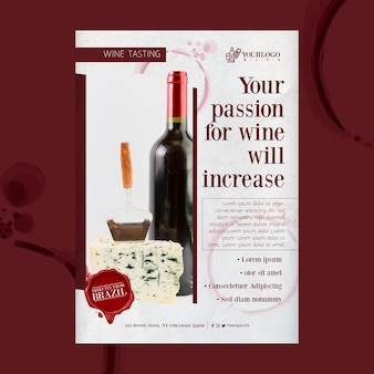 Najlepszy szablon wydruku ulotki z degustacją wina