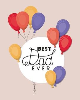 Najlepszy tata i balony