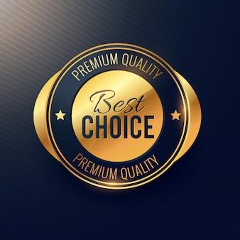 Najlepszy wybór i złoty etykieta odznaka konstrukcja dla najwyższej jakości