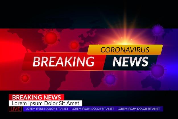 Najświeższe informacje o koronawirusie - tło