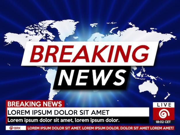 Najświeższe wiadomości na żywo na mapie świata na niebiesko.