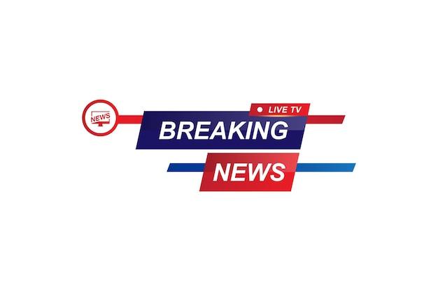 Najświeższe wiadomości tytuł szablonu dla kanału telewizyjnego na białym tle. ilustracja wektorowa płaskie eps10